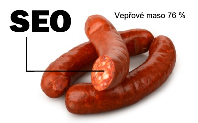 Podíl masa v klobáse je také SEO