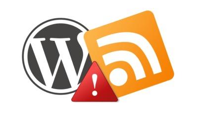 Nefunkční RSS ve WordPressu — xml parsing error syntax